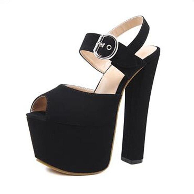 Poissons D'été Nouveau 17 2 Chaussures Super Go Grossier Mode Talon Spectacle Bouche Femmes Sandales De Étanche 1 Modèle Cm YPYqg