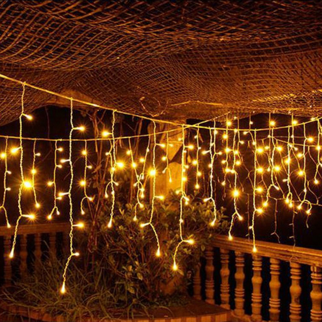 Connectable 4m led curtain icicle string lights led fairy lights connectable 4m led curtain icicle string lights led fairy lights christmas lamps icicle light garden wedding aloadofball Gallery