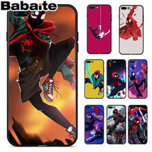 Babaite Spinne Mann In die Spinne Vers Schwarz Soft Shell Telefon Abdeckung für iPhone 8 7 6 6S Plus 5 5S SE XR X XS MAX Coque Shell(China)