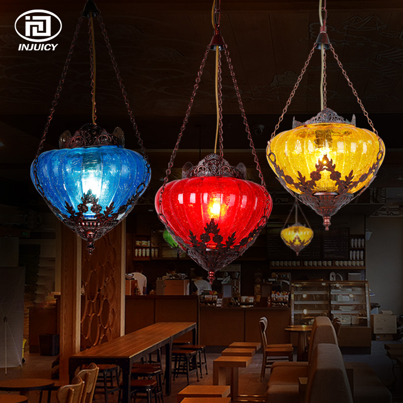 Bohemia Style Mediterranean Pendant Lamp Nordic LED Ceiling Light American Country Retro For Dining Coffee Bar Ceiling Lights