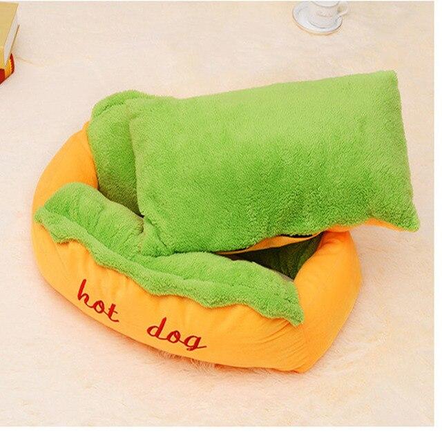 Hot Dog Bed Pet Cute Dog Beds For Small Dogs Warm Cat Sofa Cushion Soft Pet Sleeping Bag Pet Mat Funny Hot Dog Cushion 1
