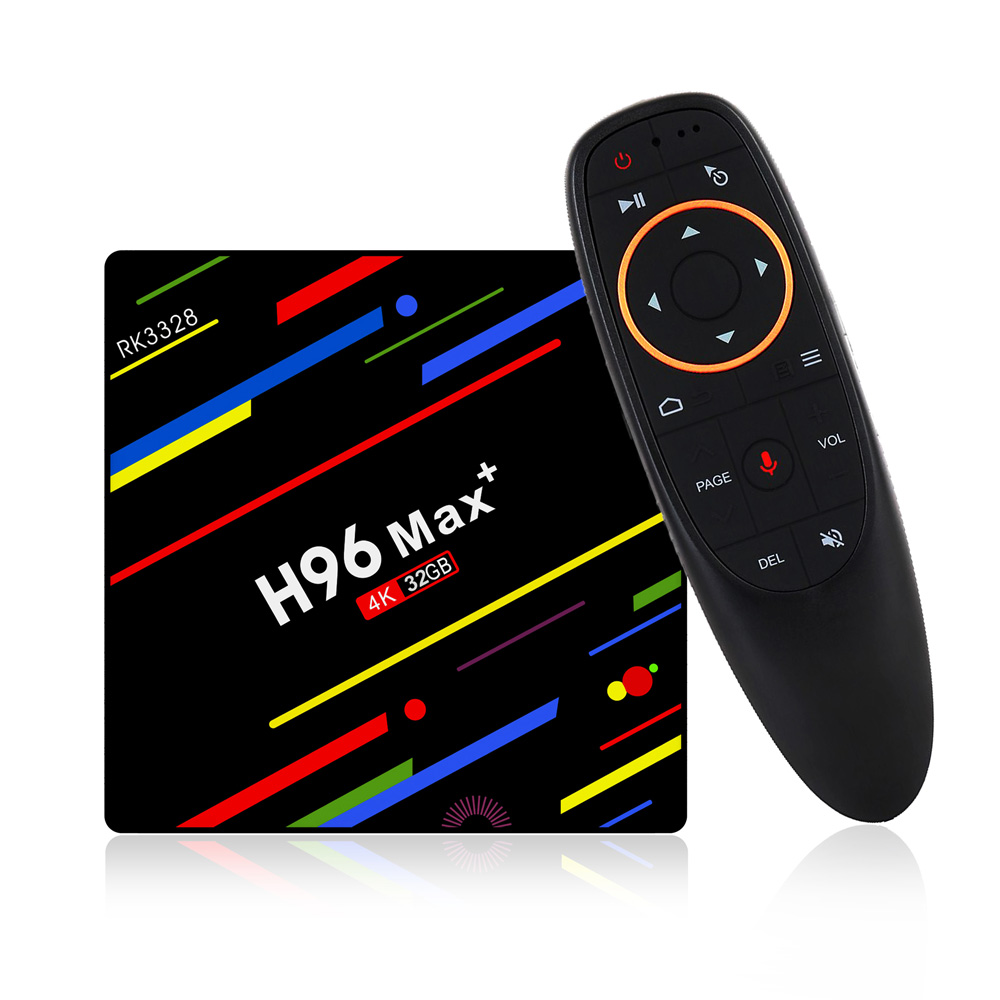 H96 Max Plus RK3328 4g/32G Android 8,1 USB3.0 Control de voz TV Box soporte HD Netflix 4 K Youtube