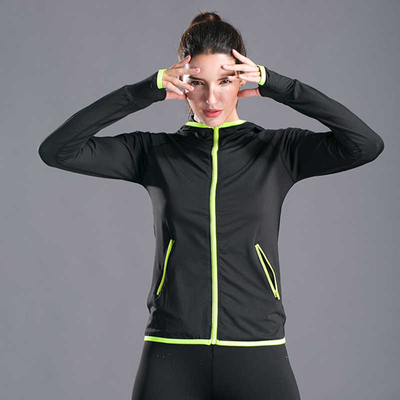 Koscacy Womens Full Zip Athletic Running Hooded Jackets Yoga Lightweight Hoodie with Thumb Holes