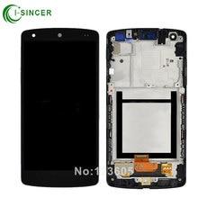 Für lg google nexus 5 d820 d821 lcd display touchscreen digitizer assembly mit frame bezel kostenloser versand
