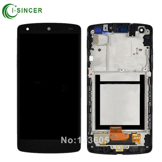 Para lg google nexus 5 d820 d821 lcd screen display toque digitador assembléia com moldura quadro frete grátis