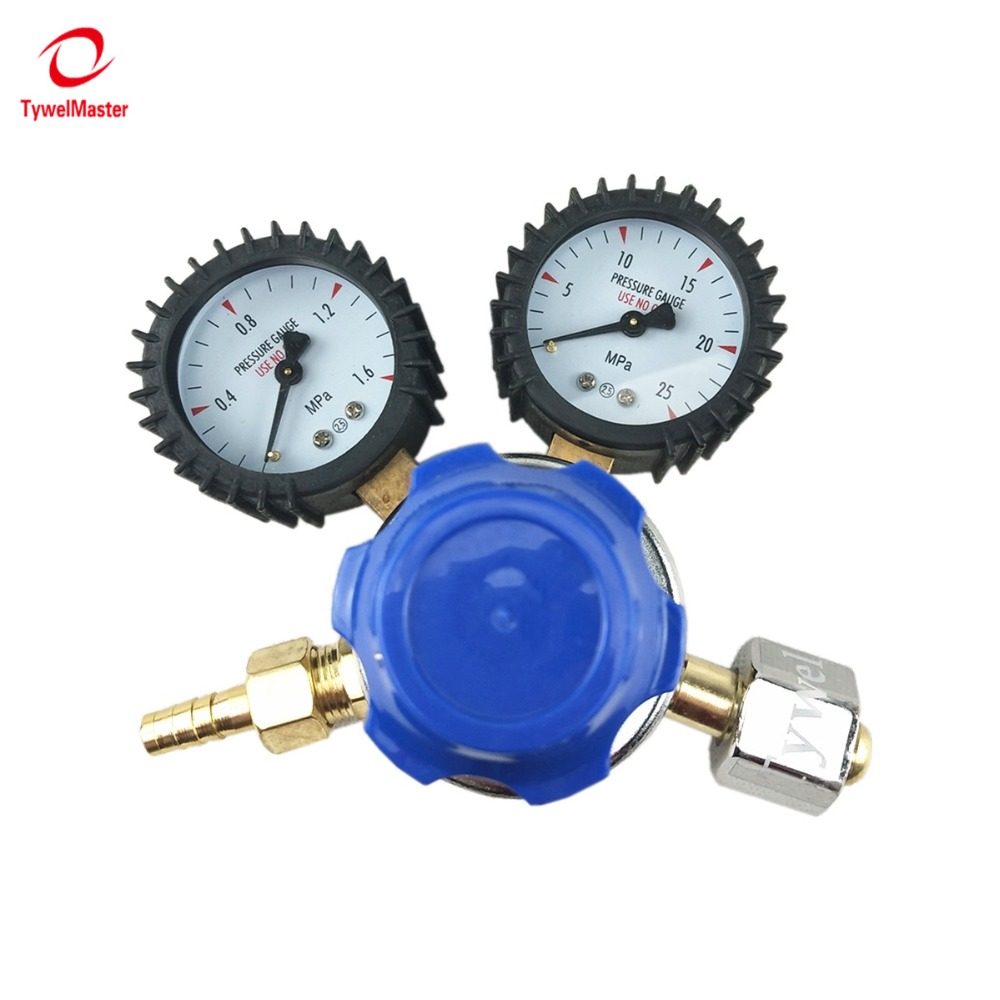 CO2 Regulator G5/8 Inlet Dual Gauge Carbon Dioxide Gas Flowmeter Welding Cutting Pressure Gas Regulator