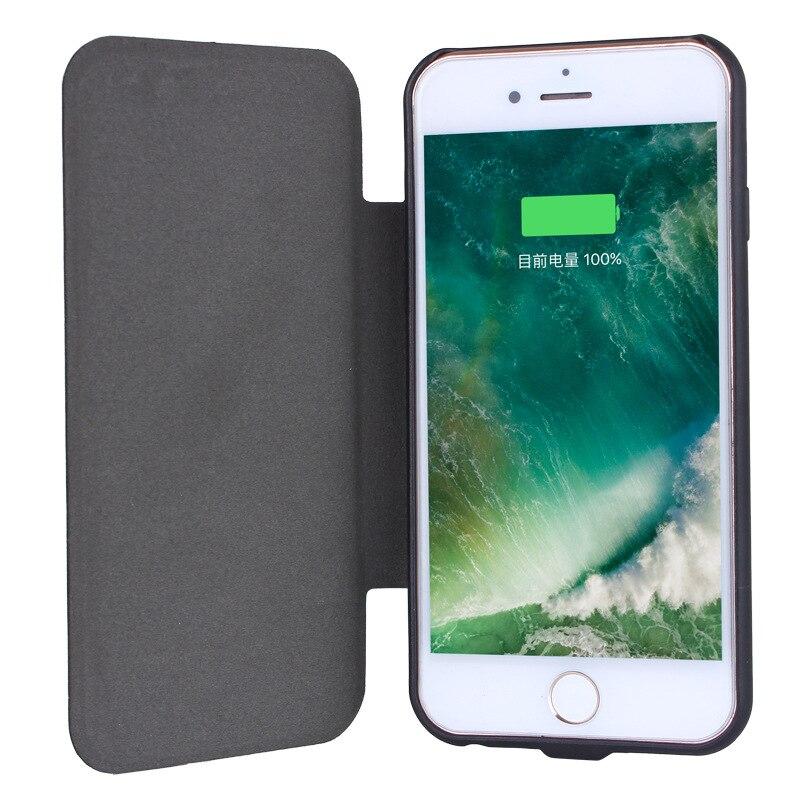 Nouveau 5000 mah Retour clip batterie Solaire Chargeur protecteur mobile couverture de téléphone pour iphone 7 6 6 s plus powerbank cas