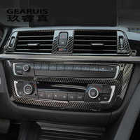 Car Styling Carbon fiber Center Console Air outlet Panel Cover Trim Stickers frame For BMW 3 Serise F30 3gt F34 Auto Accessories