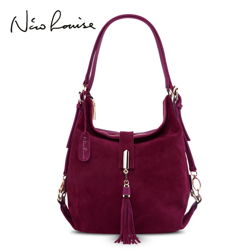 JIULINNew Arrival lady Real Suede Leather Handbag New Color Female Leisure Large Shoulder bag Shopping Casual Hobo Bag SacJIULINNew Arrival lady Real Suede Leather Handbag New Color Female Leisure Large Shoulder bag Shopping Casual Hobo Bag Sac