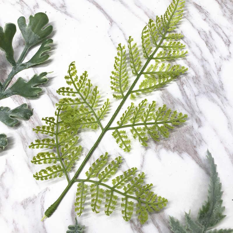 Stamen моделирование зеленый букет листьев DIY ручное украшение Зеленый лист ивы зеленая полоса материал гирлянда обруч фон
