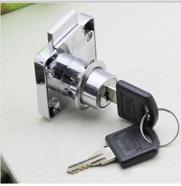 5PCS/LOT Furniture Hardware Drawer Cabinet Lock/Door Lock(2 KEYS)