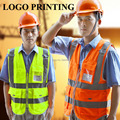 Vestuário de segurança de alta visibilidade vestuário de trabalho vestuário de segurança refletivo colete arnês colete de segurança colete refletivo impressão do logotipo
