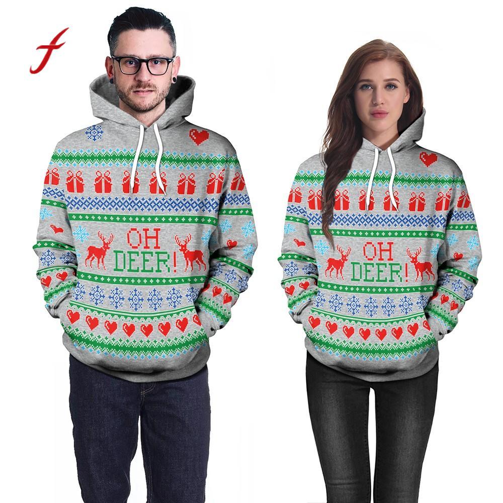 Women's Clothing Nice Feitong 2018 Christmas Hooded Sweatshirt Women 3d Party Snowflake Elk Deer Print Top Hoodie Sweatshirt Sudadera Mujer /py Be Friendly In Use
