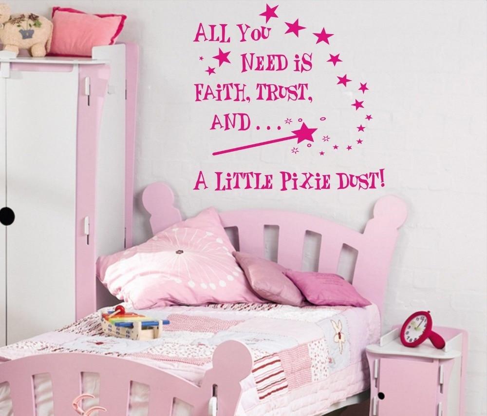 Little Girl Bedroom Art: All You Need Is... A Little Pixie Dust Wall Art Sticker