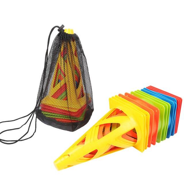 10 piunids/lote conos de disco deportivo fútbol campo de Rugby marcado entrenamiento agilidad deportes con bolsas dropshipping