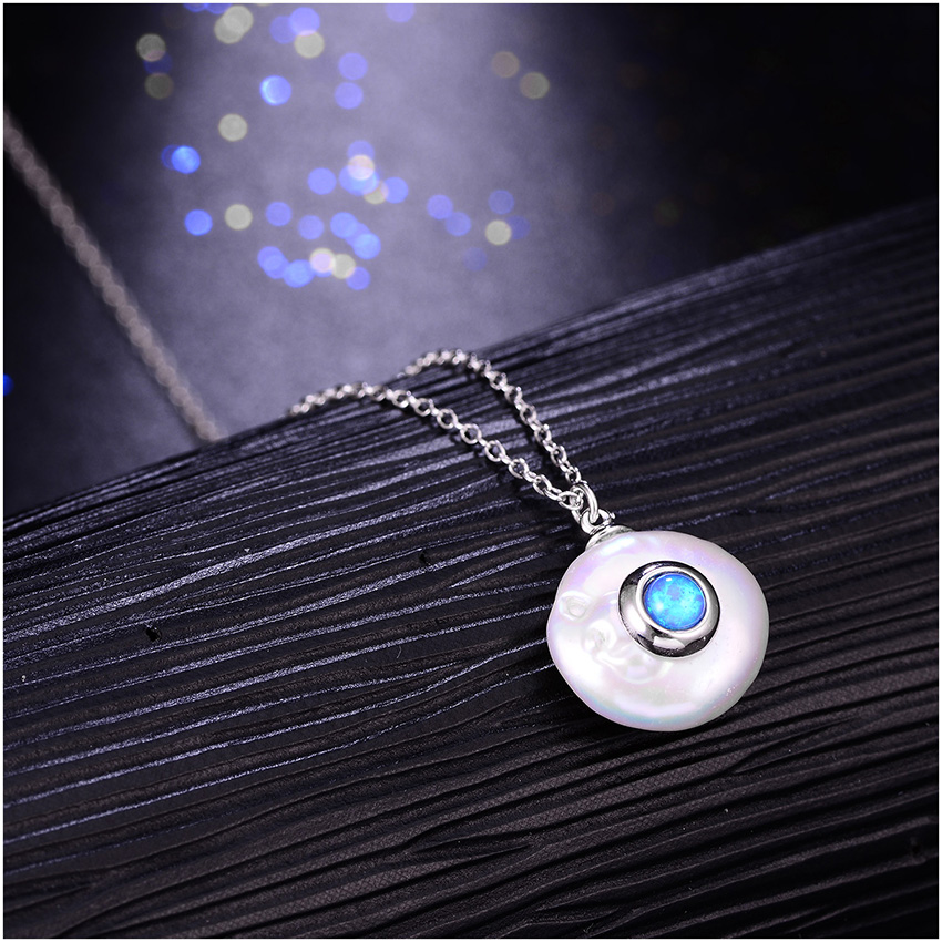Hongye 2019 New Fashion Freshwater Pearl Necklace Women 925 Sterling Silver Chain 12mm Pearl Pendant  Jewelry Necklace For Gift