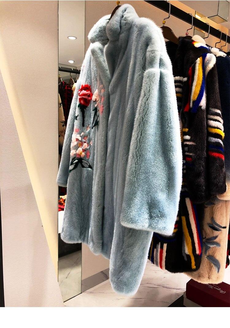 langen End Benutzerdefinierte Velvet Arlenesain Set importiert High t Mantel chinesische Blue Qualit Paris Pelz Stil uPOikXZT