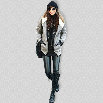 Free Shipping Retail Sexy Seamless Leggings Print Winter Black Fashion Jeans Double Layers Leggings Winter Leggings