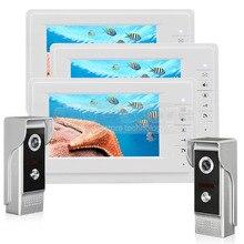 DIYSECUR 7 inch TFT Color LCD Display Video Door Phone Video Intercom Doorbell 700TVLine HD IR Night Vision Camera 2V3