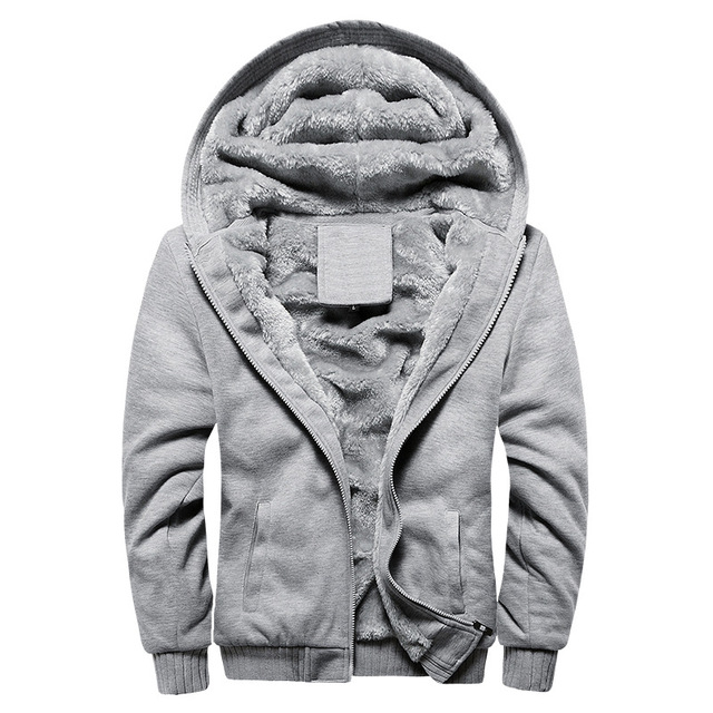Winter Thicken Hoodies Zipper Sweatshirt