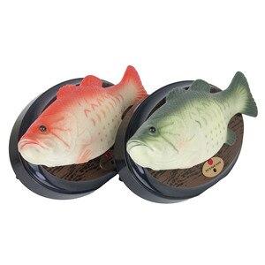 Image 2 - おかしい電子歌うプラスチック魚のバッテリ駆動ロボット玩具シミュレーション魚ノベルティパロディーおもちゃハロウィン装飾再生