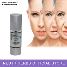 Фотография 30ml Natural Peptide Anti Aging Serum Recude Wrinkle Anti Age Cream For Face by Neutriherbs Free Shipping
