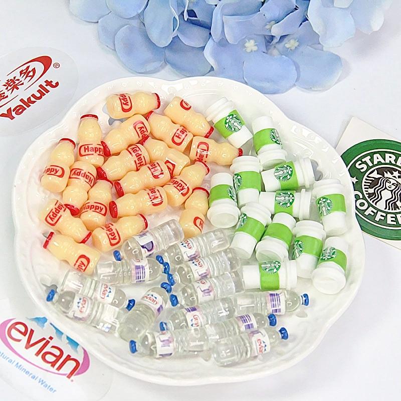 Slime-Accessories Dollhouse-Decoration Scene Models Drink-Bottles Simulation Food-Drink