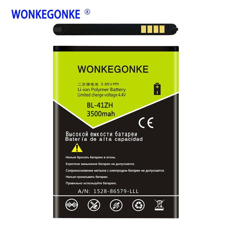 WONKEGONKE BL-41ZH BL41ZH Batterie pour LG Leon L50 C40 H340 H343 H345 MS345 D213N LS665 D290 D295 Téléphone Mobile Batteries Bateria