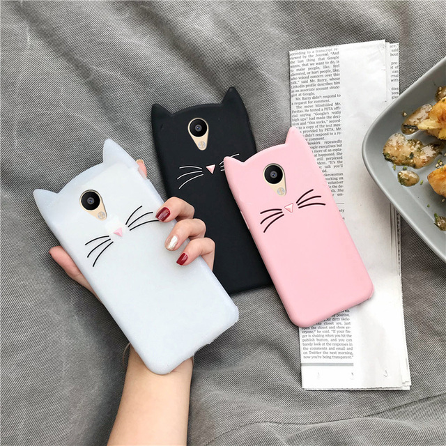 السيليكون جراب هاتف ل Meizu M6 M5S M5 M6S M3S M5C لطيف القط الأذن الكرتون حالات ل Meizu M6 M5 ملاحظة حالات الغطاء الواقي الوفير