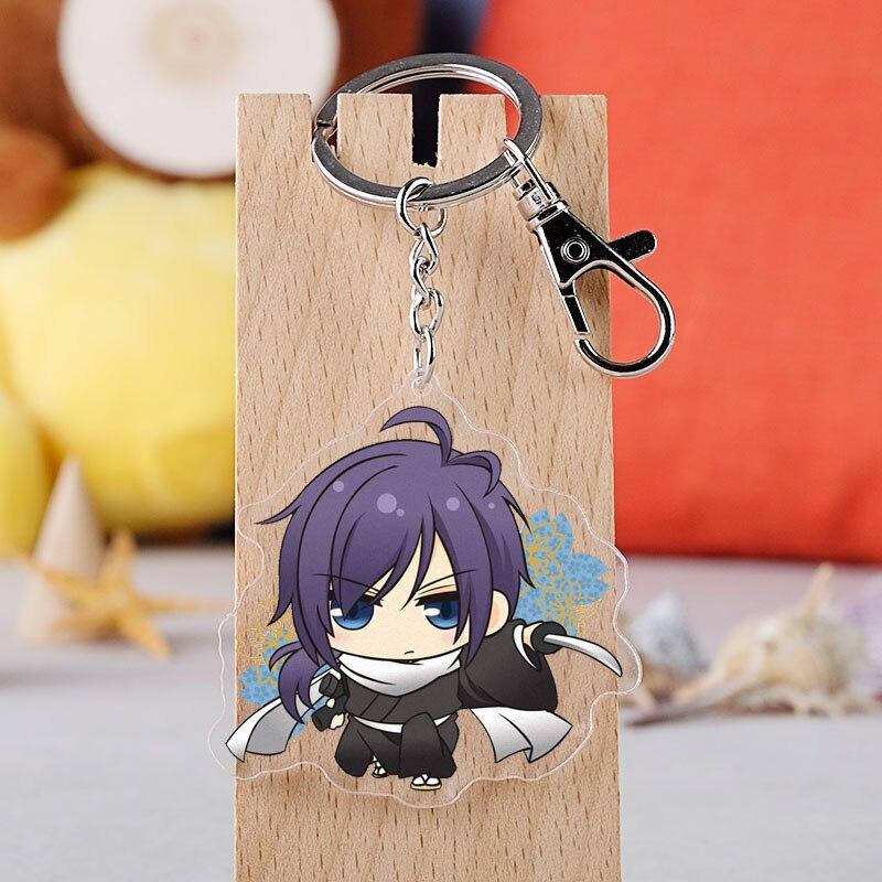 Anime Hakuouki Shinsengumi Kitan Keychain Cartoon Figure Acrylic Pendent Keyring