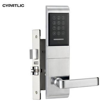 Apartment combination door lock M1 card keyless entry door lock with mechanical keys
