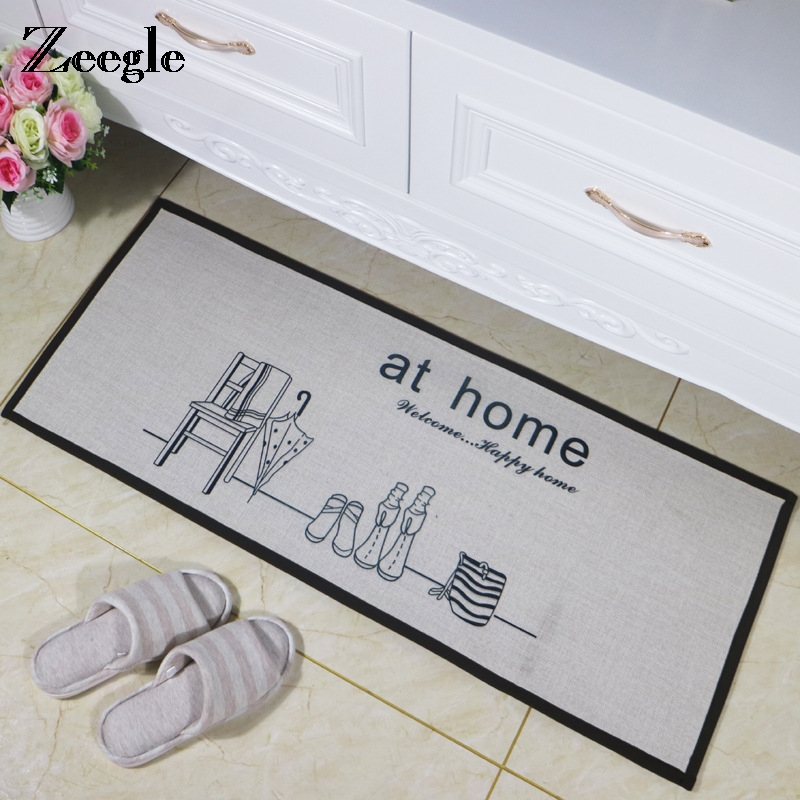 Zeegle Anti-slip Long Door Mat Floor Carpet Kitchen Bathroom Absorbent Carpet Kids Room  ...