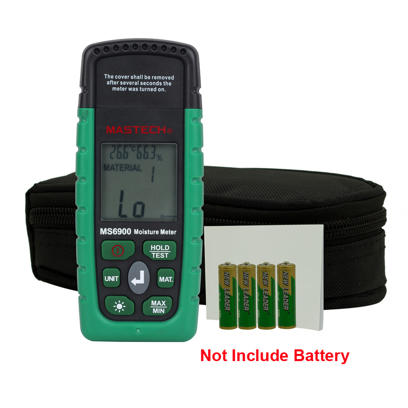 Digital LCD Display MASTECH MS6900 Portable Digital Timber Wood Moisture Meter LCD Hygrometer Temperature Humidity Meter Tester