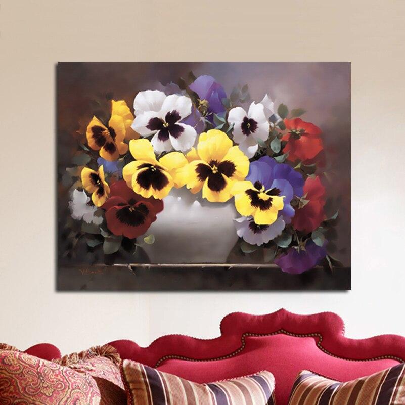 ᐂPintura de pared flor Decoración para el hogar Wall imágenes para ...