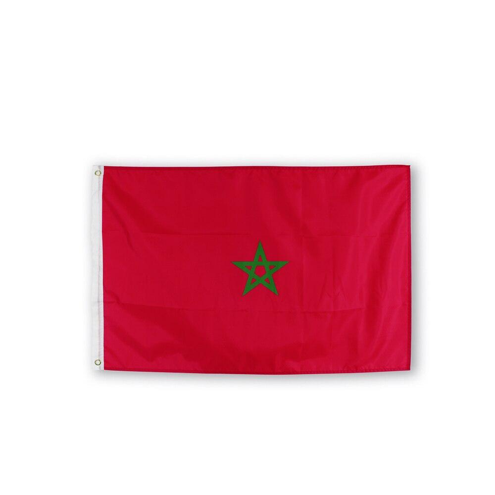 Johnin 90X150cm MA MAR флаг Королевства Марокко
