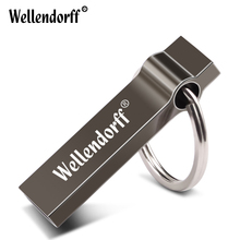 Waterproof Pen Drive 4G 8G 16GB USB Stick With Key Ring External Storage Metal 64G 32G Pendrive
