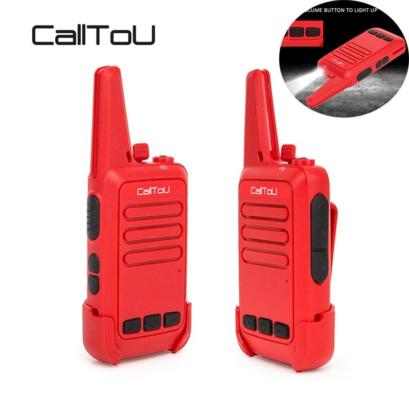 CallToU Kids Walkie Talkie Radio Transceiver Communication Mini Walkie Talkies 2 PCS UHF Handheld  for Restaurant/Cafe Service
