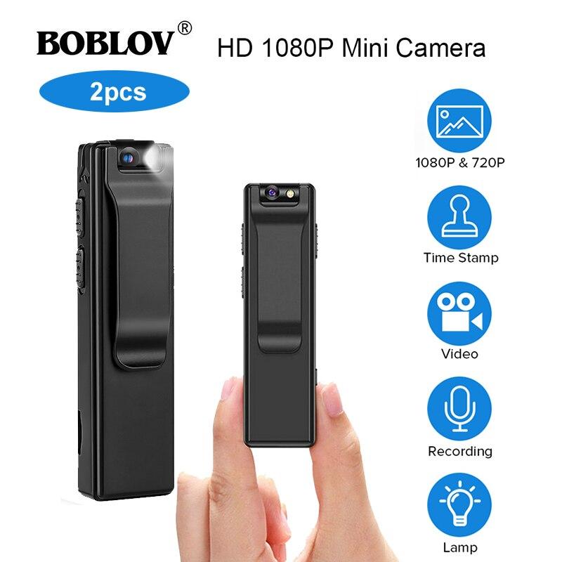 2PCS Boblov A3 Mini Digital Camera HD Magnetic Body Camera Motion Detection Kamera Police Snapshot Loop