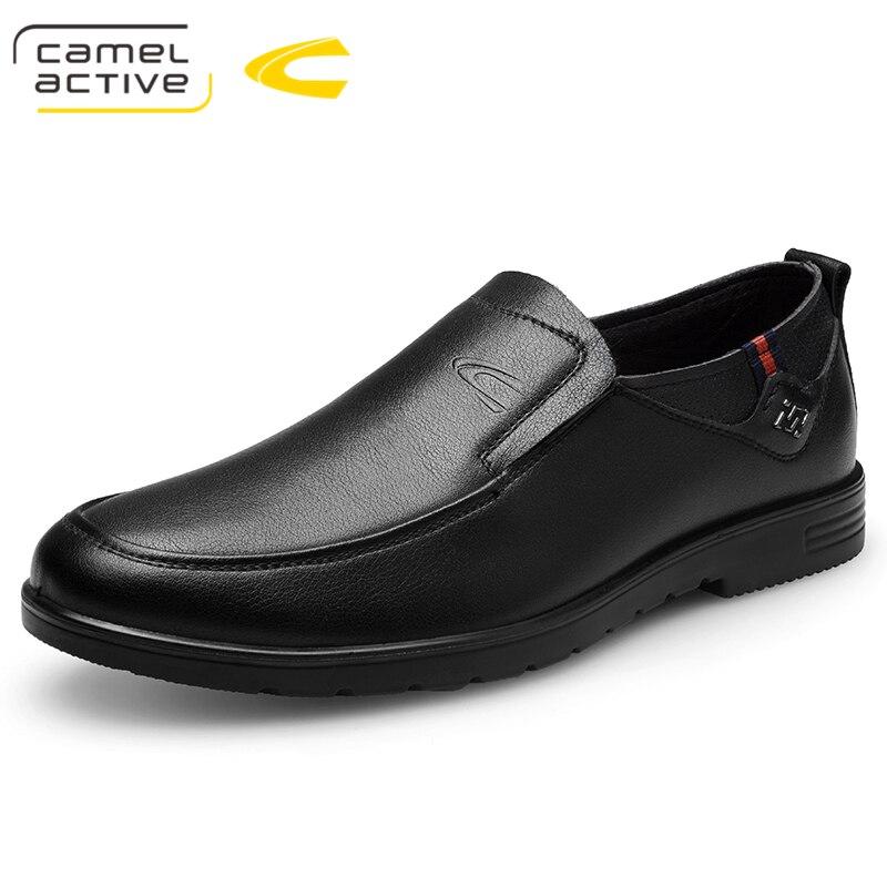 Camel Active 2019 ใหม่รองเท้าผู้ชายรองเท้าหนังแท้หนังสบายๆขับรถรองเท้า Oxfords รองเท้า Loafers ชายรองเท้ารองเท้าผู้ชาย-ใน รองเท้าลำลองของผู้ชาย จาก รองเท้า บน   1