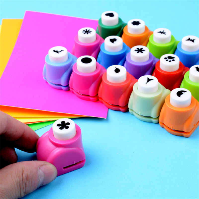 1pcs Mini Printing Paper Flower Cutter Shapes Craft Toys Punch DIY Puncher Paper Cutter Scrapbooking Punches DIY Toys For Child