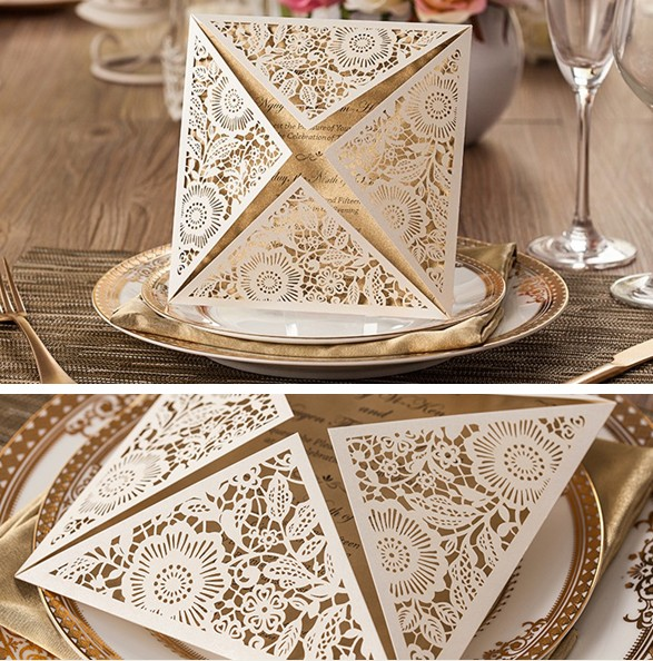 Aliexpresscom buy wedding cards invitation 3d custom for 3d wedding invitations glasses