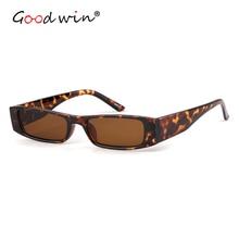 Good Win Leopard Retro Sunglasses Women Rectangle Small Clear UV400 Lens Sun Glasses For Female gafas de sol mujer