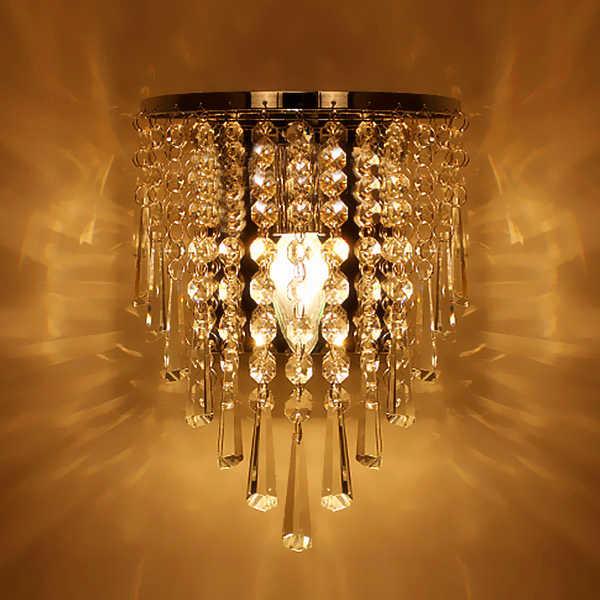 Современная хрустальная люстра настенный светильник осветительный прибор E14 светодиодный настенный светильник