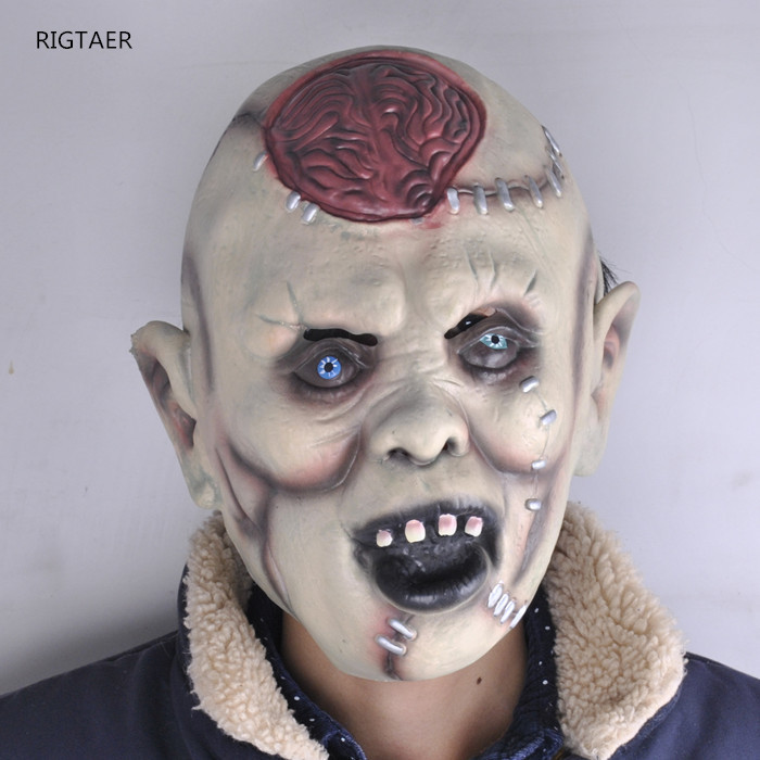 funny toys halloween mask scary headcover bar decoration props super horror devil bad head burst brain - Halloween Novelties Wholesale
