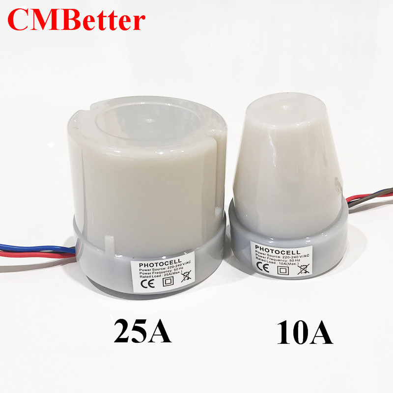 CMBetter Automatic Auto On Day Off Street Light Switch 10A Night Light  Control Sensor Switch AC220-240V  25A High Quality