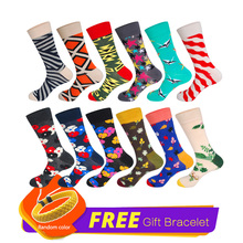 LIONZONE 12Pairs/Lot Nation Style Novelty Geometric Funny Socks Cotton Happy Socks