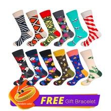 LIONZONE 12Pairs/Lot Nation Style Novelty Geometric Funny Socks Cotton Happy Socks