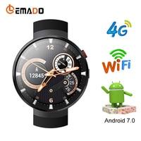 Lemado LEM7 4G Смарт часы Android 7,0 Smartwatch телефон SIM сердечного ритма 1 ГБ + 16 ГБ памяти с Камера Smart перевод инструмент