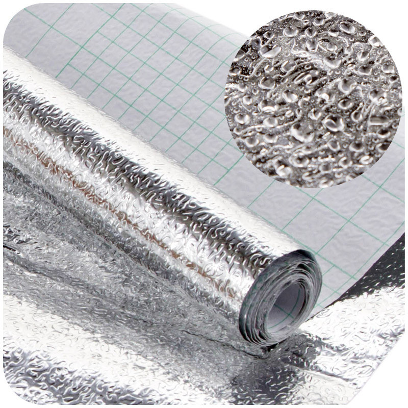The Kitchen Wall Stove Oil-proof Aluminum Foil Stickers Anti-fouling High-temperature Self-adhesive Wallpaper Wall Sticker