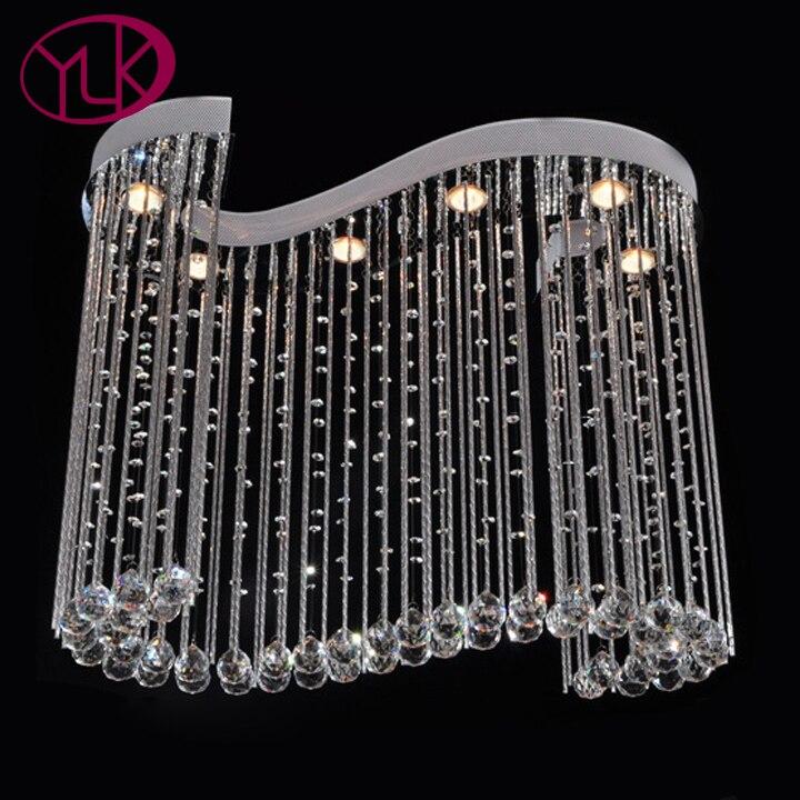 Φ_ΦDimmable moderno cristal lámpara para comedor diseño creativo Bar ...